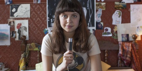 Minnie (Bel Powley) spills her life into a 70's era tape recorder in Diary of a Teenage Girl.